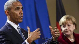 براک اوباما اور انگیلا میرکل