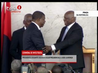 Joao Lourenco alikula kiapo baada ya chama tawala cha MPLA kushinda uchaguzi.