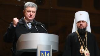Петр Порошенко и митрополит Епифаний
