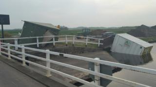 JCB in canal