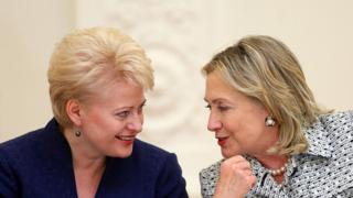 Грибаускайте та Клінтон