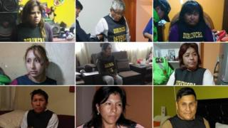 Photos showing some of the 14 people detained on suspicion of belonging to a baby trafficking ring