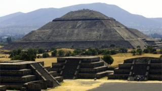La pirámide del Sol en Teotihuacán