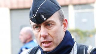 French gendarme Arnaud Beltrame, seriously injured during a gunman's siege of a supermarket in Trèbes, southern France on Friday