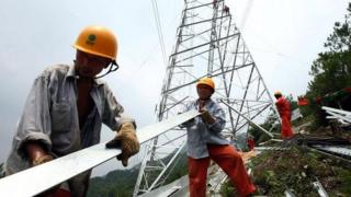 Chinese power workers