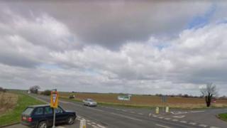 The A52 near the Heckington junction