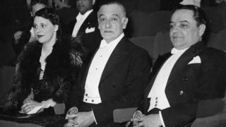 Raúl Regis de Oliveira, embajador de Brasil, junto a su esposa y el consejero de la embajada brasileña Caio de Mello Franco.