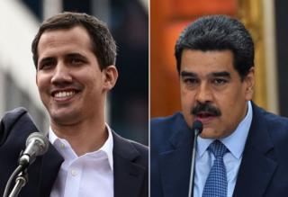 Juan Guaidó dan Nicolás Maduro