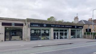 Leven Car Company showroom in Edinburgh