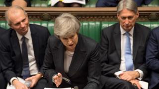 Theresa May no Parlamento
