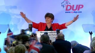 Arlene Foster at the DUP conference