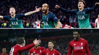 Tottenham and Liverpool celebrate their Champions League semi-final wins