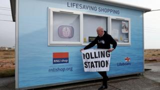 The Presiding Officer sets up Dungeness Lifeboat Station in Kent as a polling station