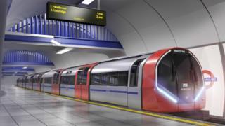 Transport for London artist impression of tube train