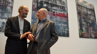 Arvo Part (left) and Gerhard Richter