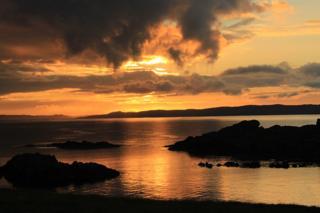 Sunrise over Shetland