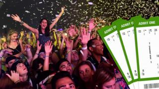 Concert tickets and fans