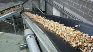 Food waste being treated