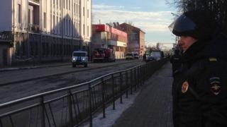 окрестности управления ФСБ в Архангельске