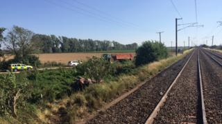 Photo of rail crash site