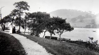 North-west shore of Rudyard Lake, circa 1906