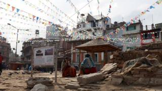 Kathmandu, Nepal, after the 2015 earthquake