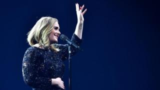 Adele performs at the O2