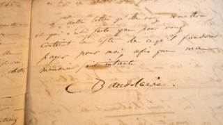 Baudelaire letter sold at auction, 4 November