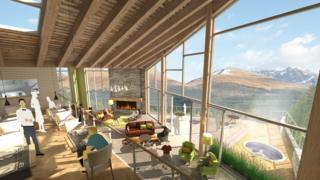 Concept illustration of luxury hotel