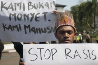 Warga Papua 'Kami bukan monyet. Kami manusia.'