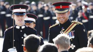 Prince Harry at Duke Of York's Royal Military School
