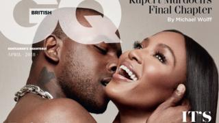 Naomi Campbell and Skepta GQ cover