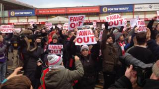 Nottingham Forest chairman protest at City ground