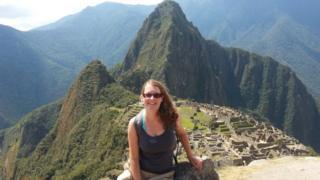 Claire Sturzaker at Machu Picchu
