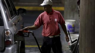 Petrol station in Caracas. 17 Feb 2016
