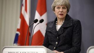 Theresa May in Copenhagen