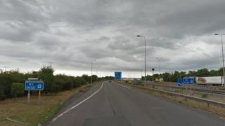M5 southbound at junction 8
