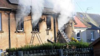 House fire in Troon