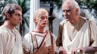 Derek Jacobi, John Hurt and George Baker in I, Claudius