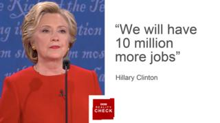 Images Reality Check: First Clinton v Trump presidential debate - BBC News 4