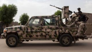 Nigerian military vehicle