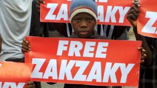 Wani yaro da ke goyon bayan Zakzaky a Najeriya