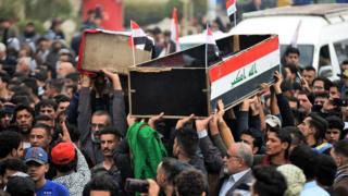 Funeral of dead protester in Najaf 29/11