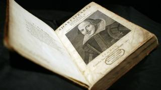 First Folio edition of William Shakespeare's plays