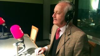 Neil Hamilton in radio studio