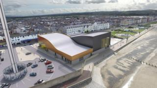Aerial view of proposed Rhyl water park