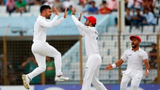 আফগান ক্রিকেটারদের উল্লাস