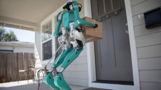 Two-legged-robot-delivering-to-house