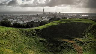 The crater of Maungawhau, otherwise known as Mount Eden