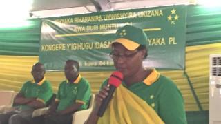 Umuyobozi w'ishyaka PL, Domitille Mukabarisa yasabye abarwanashyaka kwerekana ko bashyigikiye Paul Kagame